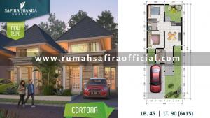 Denah Rumah Type Cortona Safira Juanda Sidoarjo