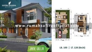 Denah Rumah Type Jane Villa Safira Juanda Sidoarjo