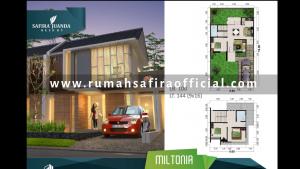 Denah Rumah Type Miltonia Safira Juanda Sidoarjo