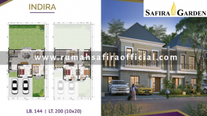 Denah Rumah Type Indira Safira Garden