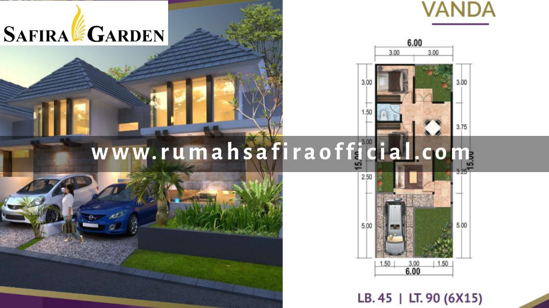 Denah Rumah Type Vanda Safira Garden
