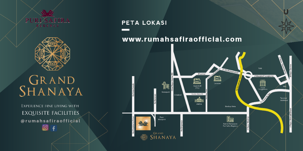 Denah Lokasi Puri Safira Regency