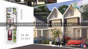 Denah Rumah King Safira Type Hampton