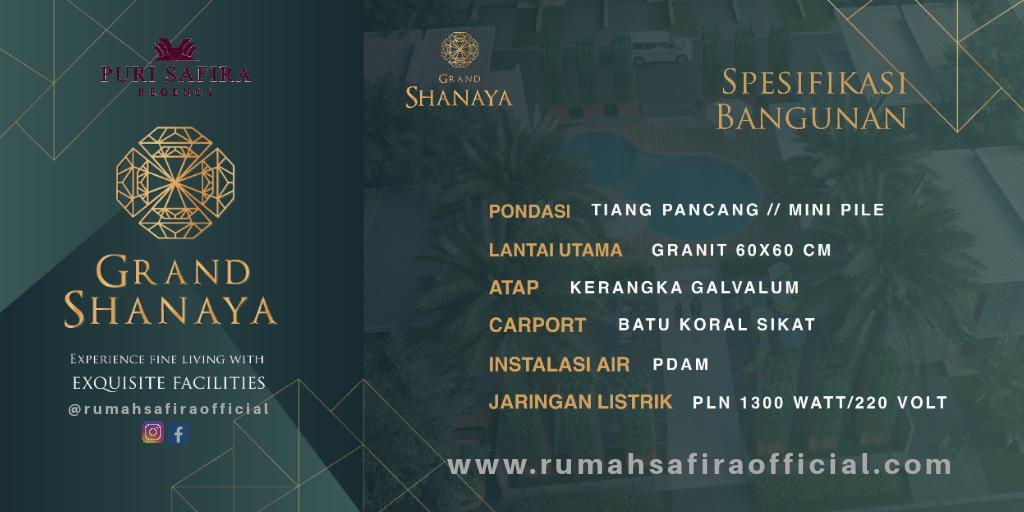 Spesifikasi Bangunan Cluster Grand Shanaya